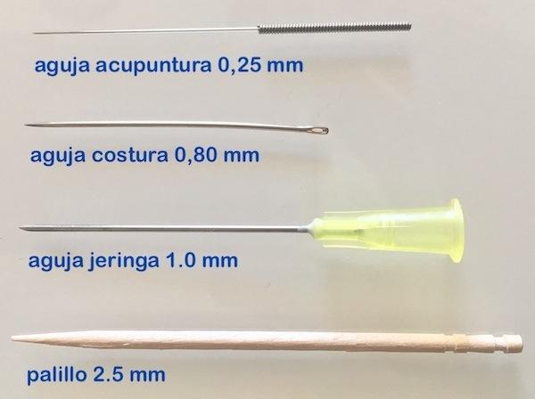 Anatomía de agujas de acupuntura