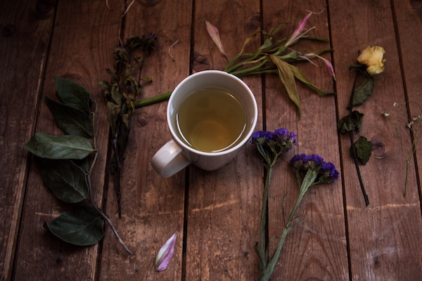 Herbal tea to get over a cold