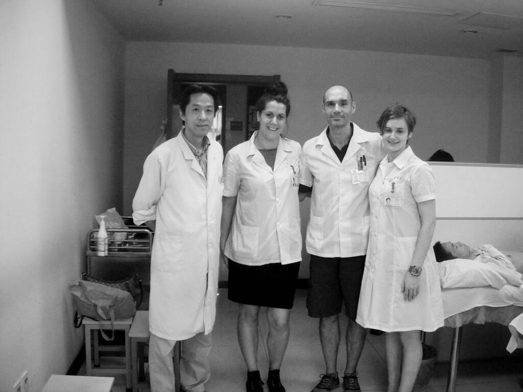 At Nanjing hospital with colleagues